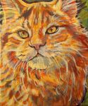 Maine coon red tabby by jupiterjenny