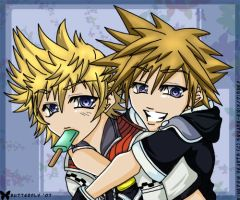:: Roxas x Sora :: 01.05.07 by butterflywish