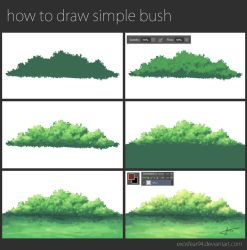 how to draw simple bush by ExosFear94