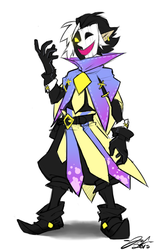 Dimentio redesign by Boomsheika