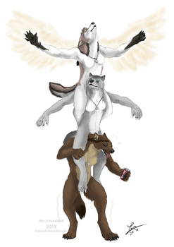 Lift you up - Commission by KeksWolf