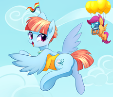 Go ! Rainbow dash by Marenlicious