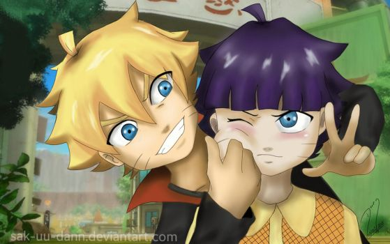 Brother and Sister Uzumaki by sak-uu-dann