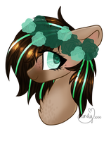 YCH Result- Flower Crown by CandyCrusher3000