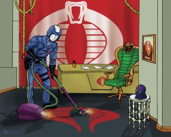 cobra commander vacuums the evil office by rruffass