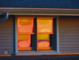 Abstract Sunset WIndows by wolfwings1