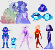 Nightglow/fluorescent diamond sketches by StarryPeaches