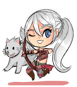 World of Warcraft: Cyriene Chibi by YorokobiNyan
