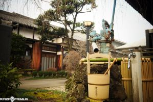 Ueno Park Traditional Water Pump by raveka