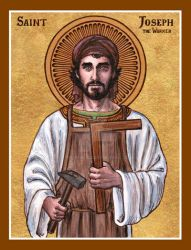 St. Joseph the Worker icon by Theophilia