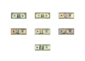 United States Dollar Bills for XNALara/XPS by XPS-Fanatic