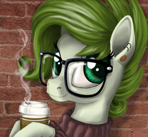 Coffee Shop Portrait by LostInTheTrees
