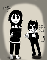 GDI (you mad?) //My reaction to bendy// by Lordestic-Fluffeh