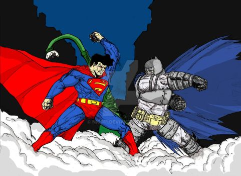 Batman v Superman TDKR by nic011