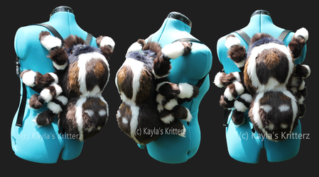 Peacock Jumping Spider Plush Backpack by BlueWolfCheetah