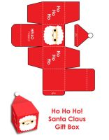Merry Christmas Santa Gift Box by hellohappycrafts
