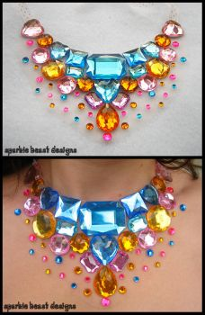 Candy Button Gem Necklace by Natalie526