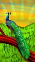 Peacock by cutecolorful