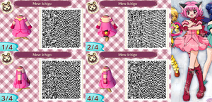 Animal Crossing QR Code Mew Ichigo by SuperAngel502