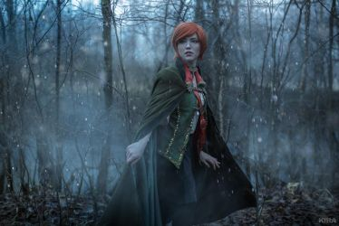 The Witcher 3 Shani cosplay (frame 4) by Lyumos