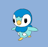 Pokemon - Running Piplup Animation