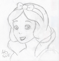Disney Snow White Sketch 01 by NinjaObsessed