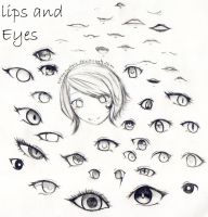 Lips and Eyes by Neonnyagic
