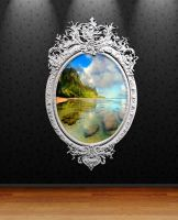 Silver Circle Photo Frame for xwidget by Jimking