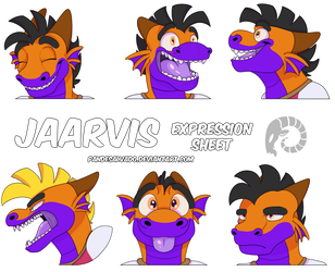 Jarvis expression sheet by Jaarvis