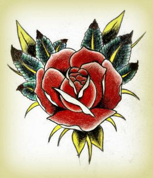 Traditional Rose by BexxTRAGIC