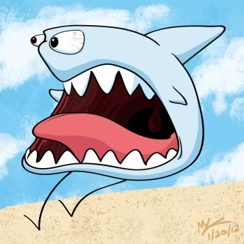 30 Day Meme: Screaming Shark by Rekslare