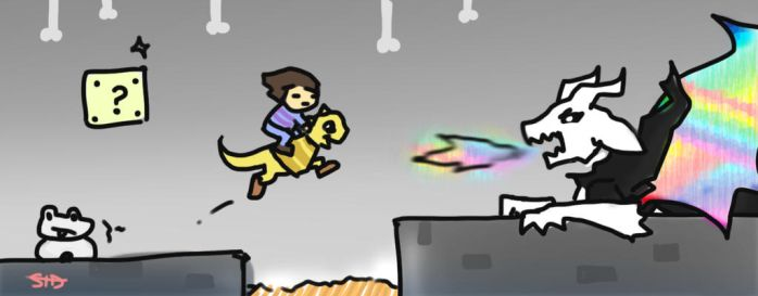 super undertale bros doodle by fakeSidney