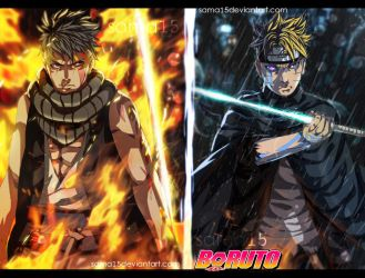 boruto vs kawaki by sAmA15