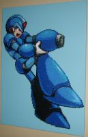 MegaManX Bead Art Final by ShampooTeacher