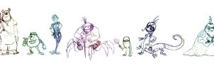 Monsters inc. Wreck it ralph style WIP by Squishy-Pop