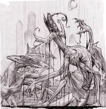 Demon's Door-pencils by Lizzy-John