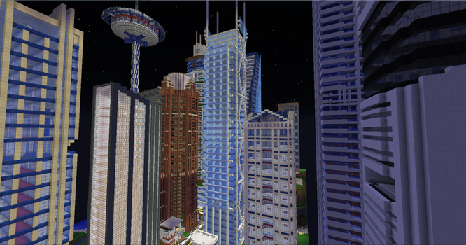Modern Minecraft City by TheApiem