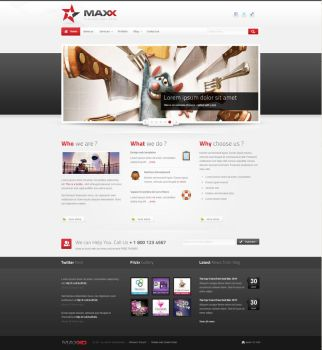 Maxx - Clean and Modern HTML template by sinceuleft