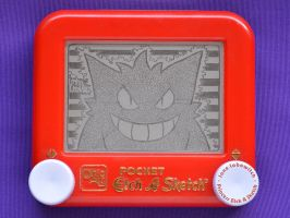 Gengar etch a sketch by pikajane