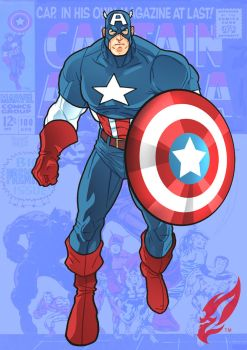Captain America by BongzBerry