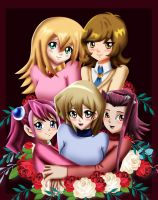 .: YGO : Girls Hug :. by Sincity2100