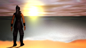 Xehanort at the shore by TheRPGPlayer