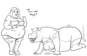Big and Proud Hippos by Dragon-Storm