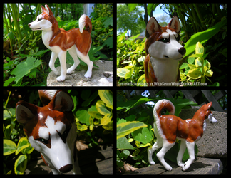Running Red Husky Sculpture by WildSpiritWolf