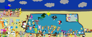 ToonWorld Pool Party by JustinandDennis