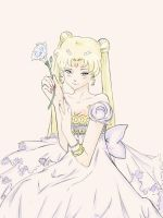 Princess Serenity colored by kocoum