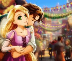 Tangled Thank you 2000 Watchers by Esther-Shen