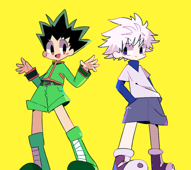 Gon and Killua by Fainna
