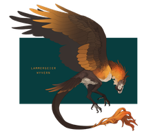 [Closed] Auction - Lammergeier Wyvern by Scribbel01