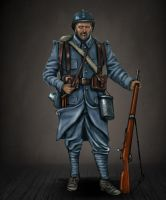 French WW1 infantry soldier by timcatherall